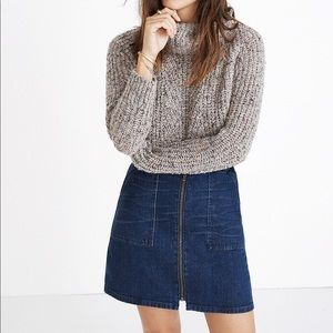 NWT☀️ Madewell Denim Utility Zip Skirt Kinsey Wash